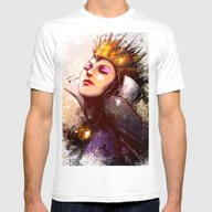 Evil Queen Mens Fitted Tee White SMALL