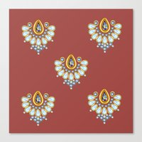 Hindi Pattern Canvas Print