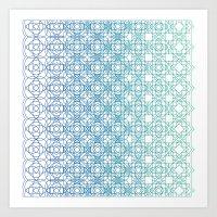 Metamorph 001 | Blue Art Print