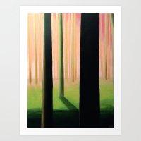 Trees 02 (Spring) Art Print