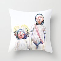 Throw Pillow featuring maasai by Cristian Blanxer