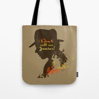 Don't call me Junior! – Indiana Jones Silhouette Quote Tote Bag