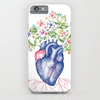 iPhone & iPod Case featuring Strawberry Heart  by Agata Duda