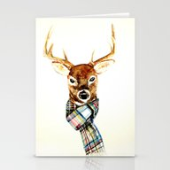 Deer Buck With Winter Sc… Stationery Cards