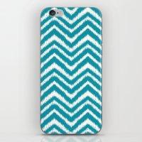 Ikat Chevron: Teal iPhone & iPod Skin