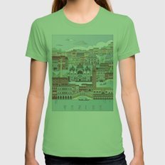 Venice City Poster Womens Fitted Tee Grass SMALL