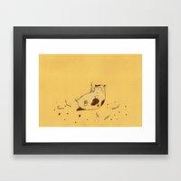 Happy Birthday fat cat '^^) Framed Art Print