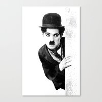 MR CHAPLIN Canvas Print