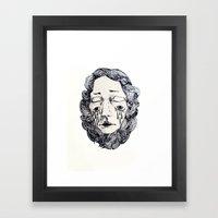 Lines I Framed Art Print