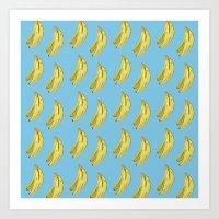 Banana Watercolor Art Print