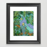 Two Can Blue Framed Art Print