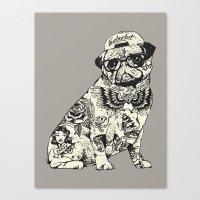 Pug Tattoo Canvas Print