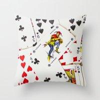 Joker In The Pack Throw Pillow