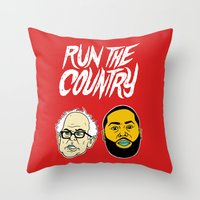 Run The Country Throw Pillow