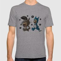 Super Totoro Bros. Mens Fitted Tee Athletic Grey SMALL