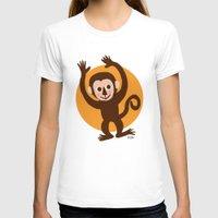 monkey T-shirts featuring Monkey by BATKEI