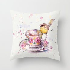 There is always time for tea Throw Pillow