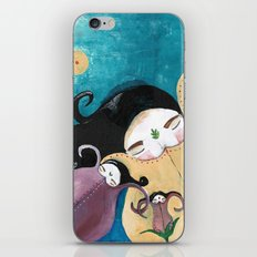 Sleeping Bhoomies iPhone & iPod Skin