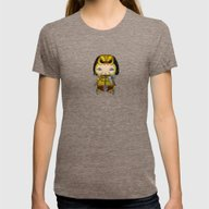 A Boy - Predator Womens Fitted Tee Tri-Coffee SMALL