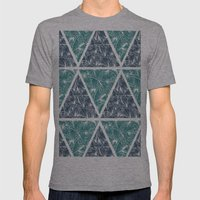 Geometric Paradise Mens Fitted Tee Athletic Grey SMALL