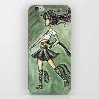 Rock Starlette iPhone & iPod Skin