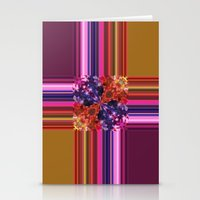 Purplish-Red And Gold Co… Stationery Cards