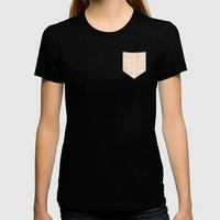 Teddy Bear Beige Heart L… Womens Fitted Tee Black SMALL