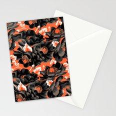Mount Cook Lily - Orange/Black Stationery Cards