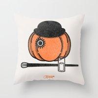 A Clockwok Pumpkin Throw Pillow
