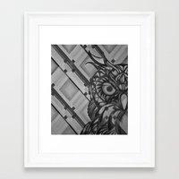 Gray Owl Framed Art Print