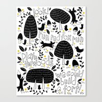 Let's Play In The Woods Canvas Print