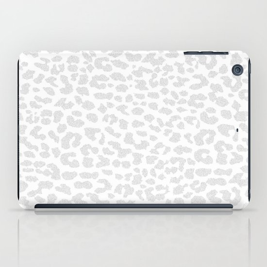 Pale Gray Leopard iPad Case