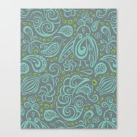 Festooned Feathered Frie… Canvas Print