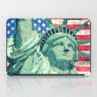 Statue Of Liberty Waterc… iPad Case