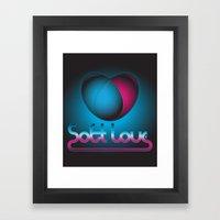 SoftLove Framed Art Print