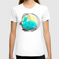 hypnotic rabbit Womens Fitted Tee White SMALL
