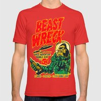 BEASTWRECK ATTACKS! Mens Fitted Tee Red SMALL