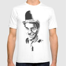 The Comedians SMALL White Mens Fitted Tee