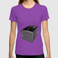 Idiot box Womens Fitted Tee Ultraviolet SMALL
