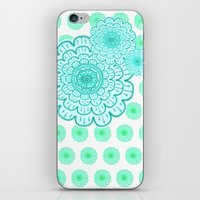 seafoam & blueeeey iPhone & iPod Skin