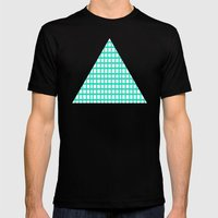 LINES In MINT Mens Fitted Tee Black SMALL