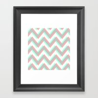 ECHO CHEVRON Framed Art Print
