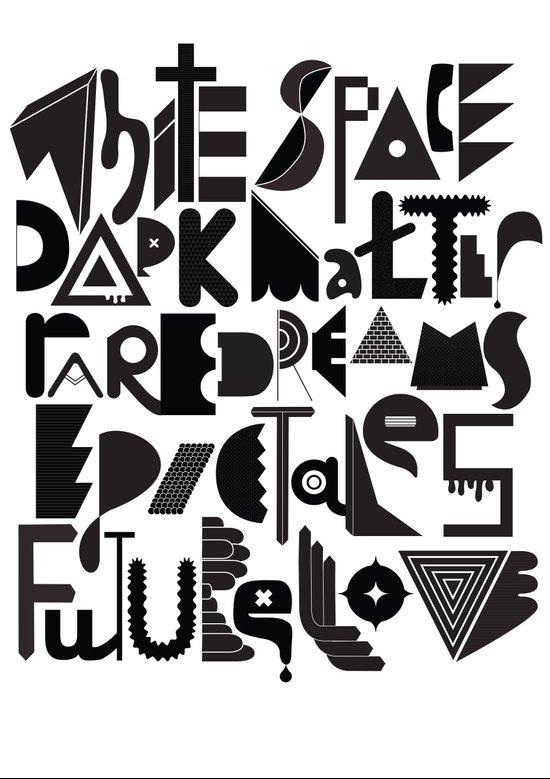 White Space Dark matter Canvas Print