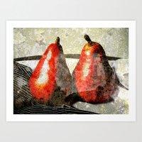 Pair of Pears Art Print
