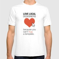 Love Local Designers Mens Fitted Tee White SMALL