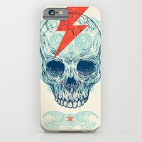 logo iPhone & iPod Cases featuring Skull Bolt by Rachel Caldwell