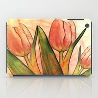 Tulips red iPad Case