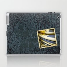 Grunge sticker of Uruguay flag Laptop & iPad Skin