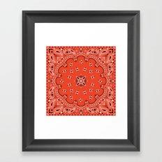 Red Bandana Framed Art Print