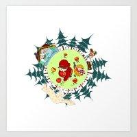 Little Red Riding Cap Art Print